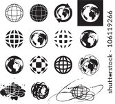 globe icons. vector globe sign...