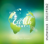 earth day illustration with... | Shutterstock .eps vector #1061193362