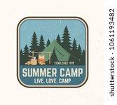 summer camp patch. vector...   Shutterstock .eps vector #1061193482