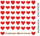 set of forty four different red ...