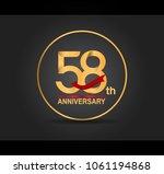 58th anniversary design golden... | Shutterstock .eps vector #1061194868