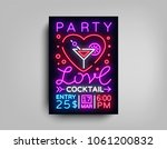 cocktail party poster vector... | Shutterstock .eps vector #1061200832