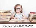 beautiful little girl is... | Shutterstock . vector #1061206856