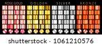 rose gold  golden  silver ... | Shutterstock .eps vector #1061210576
