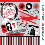 vintage objects scrapbook... | Shutterstock .eps vector #106121546