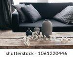 minimalistic home decor on... | Shutterstock . vector #1061220446