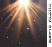realistic sun flare. starburst...   Shutterstock .eps vector #1061225822