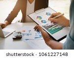 business financial concept... | Shutterstock . vector #1061227148