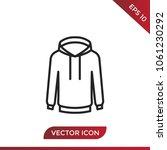 sweatshirt icon vector | Shutterstock .eps vector #1061230292
