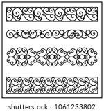 this is set of a metal forged... | Shutterstock .eps vector #1061233802