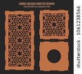 diy laser cutting vector scheme ... | Shutterstock .eps vector #1061238566