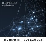 connected polygons spiral... | Shutterstock .eps vector #1061238995