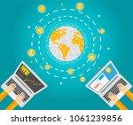 chryptocurrency digital tech... | Shutterstock .eps vector #1061239856