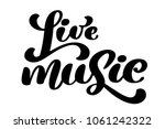 live music sign icon. karaoke... | Shutterstock .eps vector #1061242322
