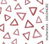 hand dawn watercolor triangles...   Shutterstock . vector #1061246282