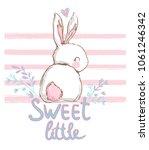 Hand Drawn Cute Bunny ...