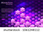 cryptocurrency and blockchain... | Shutterstock .eps vector #1061248112