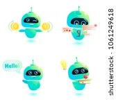 cute bot character set. chatbot ... | Shutterstock . vector #1061249618