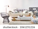 modern interior decoration... | Shutterstock . vector #1061251226
