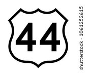 us route 44 sign  black and... | Shutterstock .eps vector #1061252615