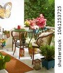 modern decorative balcony style.... | Shutterstock . vector #1061253725