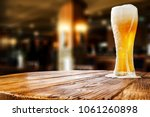 beer and bar table  | Shutterstock . vector #1061260898