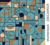 retro geometric seamless... | Shutterstock .eps vector #1061269025