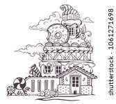 sweet kingdom  lovely cartoon... | Shutterstock .eps vector #1061271698