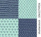 abstract handdrawn seamless... | Shutterstock . vector #1061274926