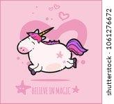 fantasy unicorn cute...   Shutterstock .eps vector #1061276672