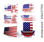 4th july american flag vintage... | Shutterstock .eps vector #106127702