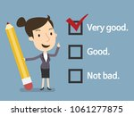check list and pencil  business ... | Shutterstock .eps vector #1061277875