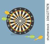 dart and dartboard  business... | Shutterstock .eps vector #1061277878