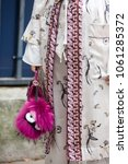 Small photo of Street Style : Day Four Paris Fashion Week Spring/Summer 2017 PARIS, FRANCE - SEPTEMBER 30: Fashion details outside the Christian Dior show on day 4 of Paris Womens Fashion Week Spring/Summer 2017