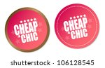 cheap   chic stickers   Shutterstock .eps vector #106128545