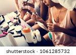 a diverse group of women... | Shutterstock . vector #1061285732