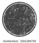 textured round banner.grunge... | Shutterstock .eps vector #1061286728