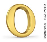 gold letter o isolated on white ... | Shutterstock . vector #1061290115