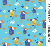 parrot seamless pattern | Shutterstock .eps vector #1061301416