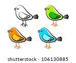 collection of birds   Shutterstock .eps vector #106130885