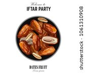 dates for iftar party. hand... | Shutterstock .eps vector #1061310908