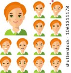 collection of various emotion... | Shutterstock .eps vector #1061311178