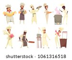 professional cooking set of... | Shutterstock .eps vector #1061316518