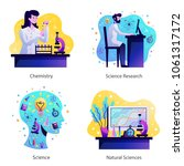 science concept 4 colorful... | Shutterstock .eps vector #1061317172