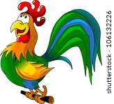Rooster Sits On A Perch...