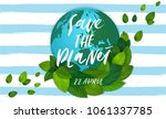 ecology theme happy earth day... | Shutterstock .eps vector #1061337785