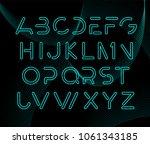 futuristic modern alphabet.... | Shutterstock .eps vector #1061343185