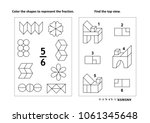 two visual math puzzles and... | Shutterstock .eps vector #1061345648