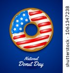 national donut day. vector... | Shutterstock .eps vector #1061347238