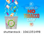 world no tobacco day   concept... | Shutterstock .eps vector #1061351498
